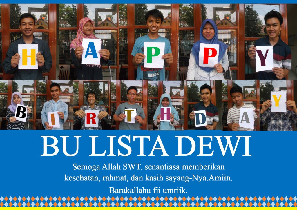 Happy Birthday Ibu Lista Dewi